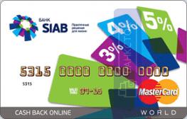 Кредитная карта Cash Back Все включено от ПАО БАНК «СИАБ»
