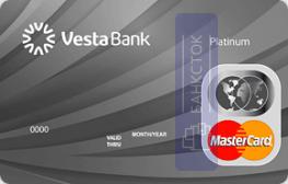 Оформить дебетовую карту Платиновая от Инвестиционный Банк «ВЕСТА» (ООО)